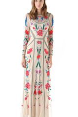 Temperley London Floral Embroidered Gown - Lyst