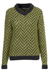 Topshop Knitted Chevron Stitch Jumper - Lyst