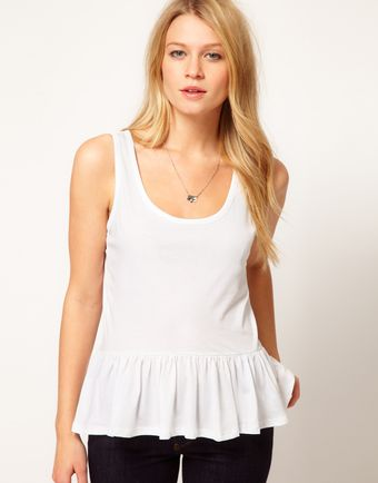 ASOS Collection Asos Vest with Peplum Hem - Lyst
