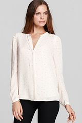 DKNY C V Neck Button Through Blouse - Lyst