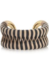 Giles & Brother Cortina 10karat Goldplated Leather Cuff - Lyst