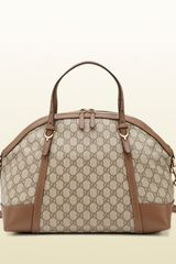 Gucci Gucci Nice Gg Supreme Canvas Top Handle Bag - Lyst