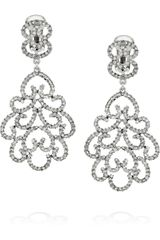 Kenneth Jay Lane Rhodiumplated Swarovski Crystal Clip Earrings - Lyst
