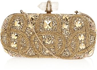 Marchesa Lily Embroidered Clutch Bag - Lyst