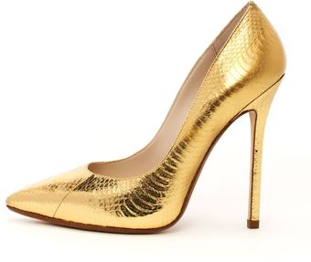 Michael Kors Korsaberly Metallic Genuine Snake Pump - Lyst