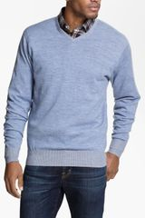 Peter Millar Vneck Merino Wool Sweater - Lyst