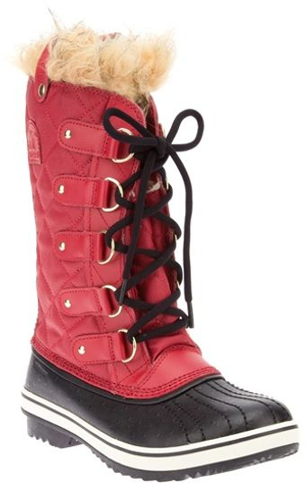 Sorel Shearling Trim Quilted Boot - Lyst