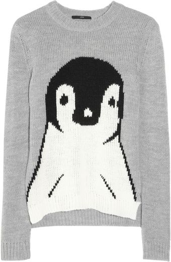 Tibi Penguin Intarsia Knitted Sweater - Lyst