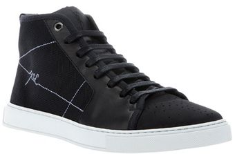 Yves Saint Laurent High Top Trainer - Lyst