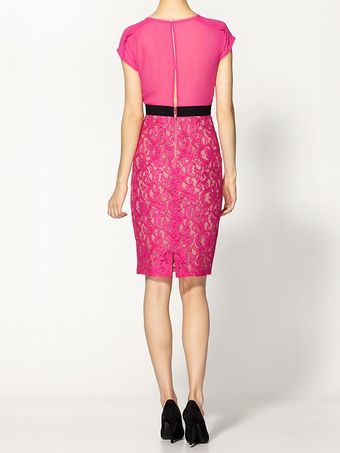 BCBGMAXAZRIA Lace Sheath Dress - Lyst