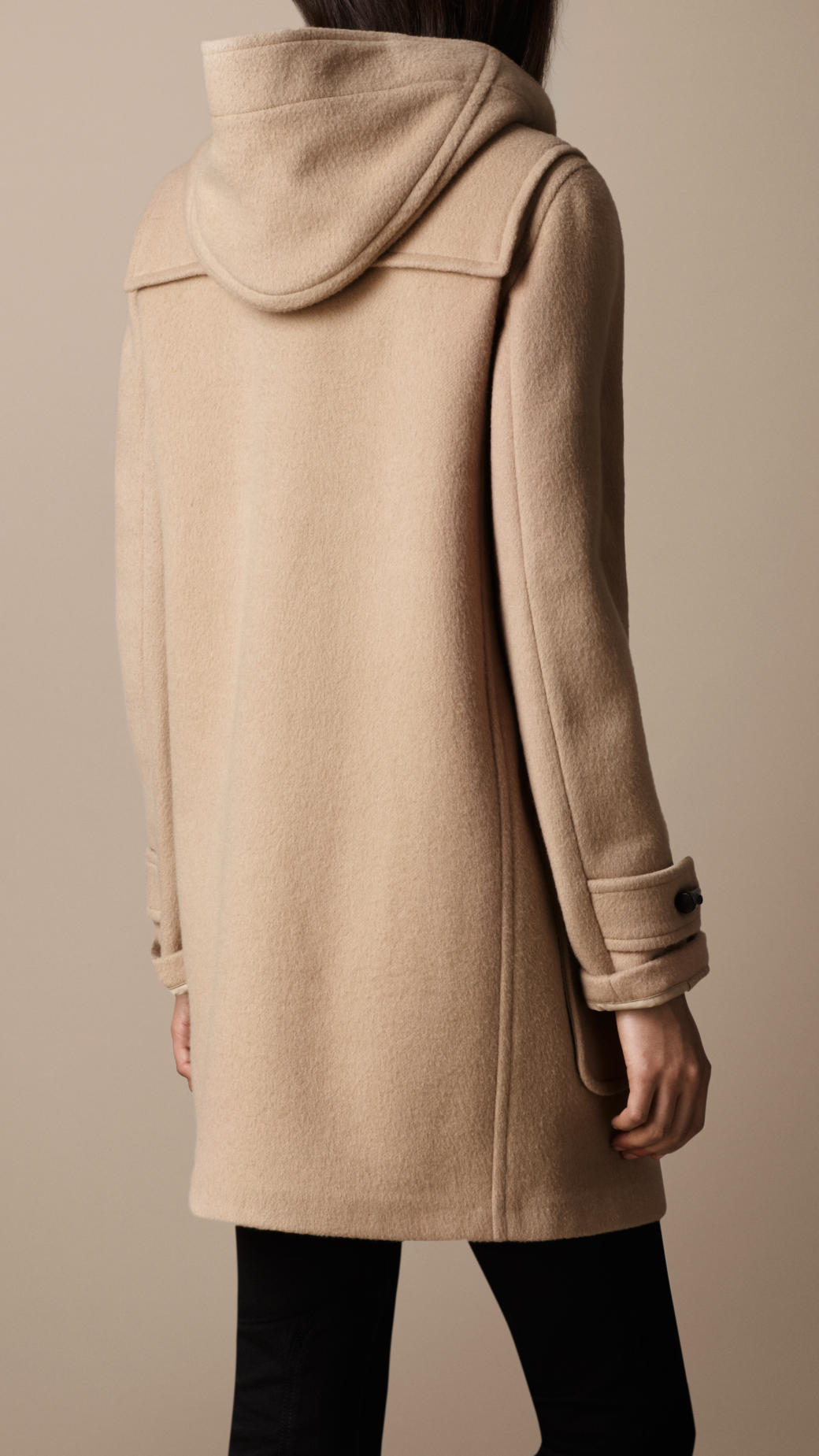 Burberry Brit Wool Duffle Coat In Camel Brown Lyst
