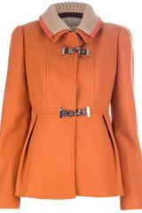 Fay Two Collar Jacket - Lyst