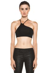 Helmut Lang Asymmetrical Bra in Black - Lyst