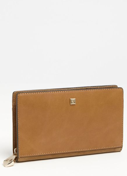 Pour La Victoire Yves Zip Around Wallet in Brown (olive)