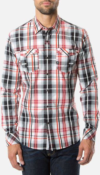 7 Diamonds Ace Of Spades Woven Sport Shirt - Lyst