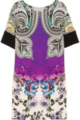 Etro Printed Crepe Dress - Lyst