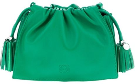 Loewe Tassel Clutch Bag in Green