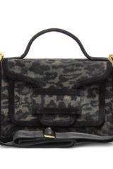 Pierre Hardy Leopard Print Suede Shoulder Bag