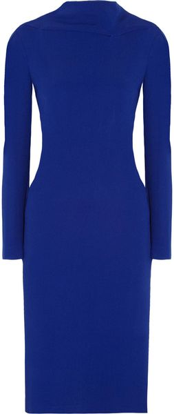Roland Mouret Barsad Draped Back Crepe Dress - Lyst