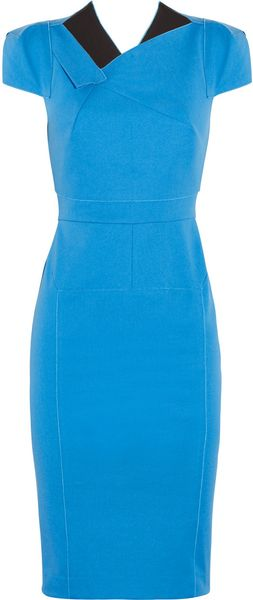 Roland Mouret Jesse Paneled Stretch Cotton Dress - Lyst