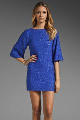 Alice + Olivia Lari Bell Sleeve Sequin Tunic Dress - Lyst
