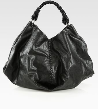 Bottega Veneta Coated Linen Shoulder Bag - Lyst