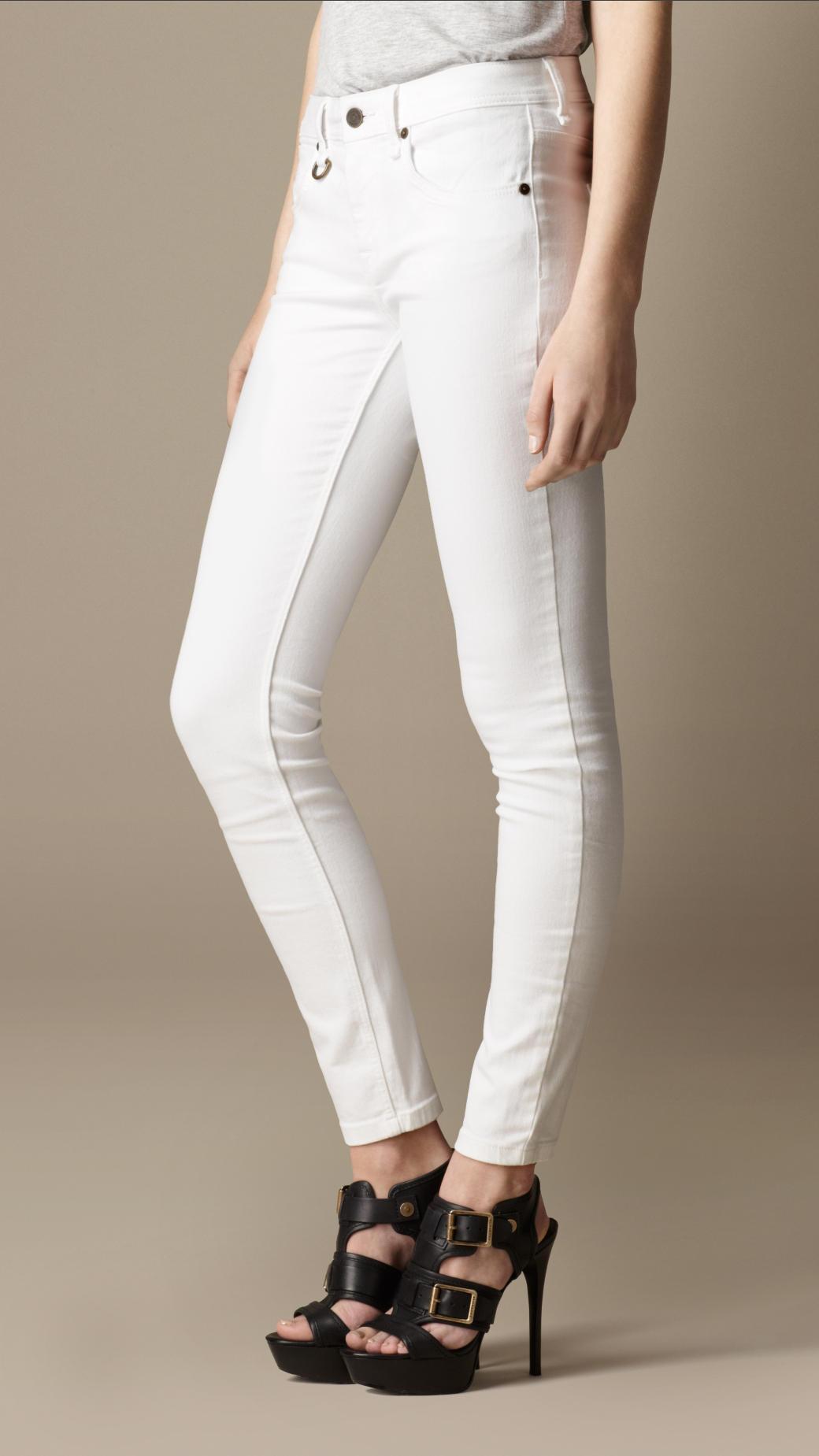 Classic White Skinny Jeans - White Denim - White Jeans