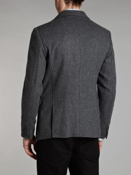 star raw wool blazer in gray for men grey lyst. Black Bedroom Furniture Sets. Home Design Ideas
