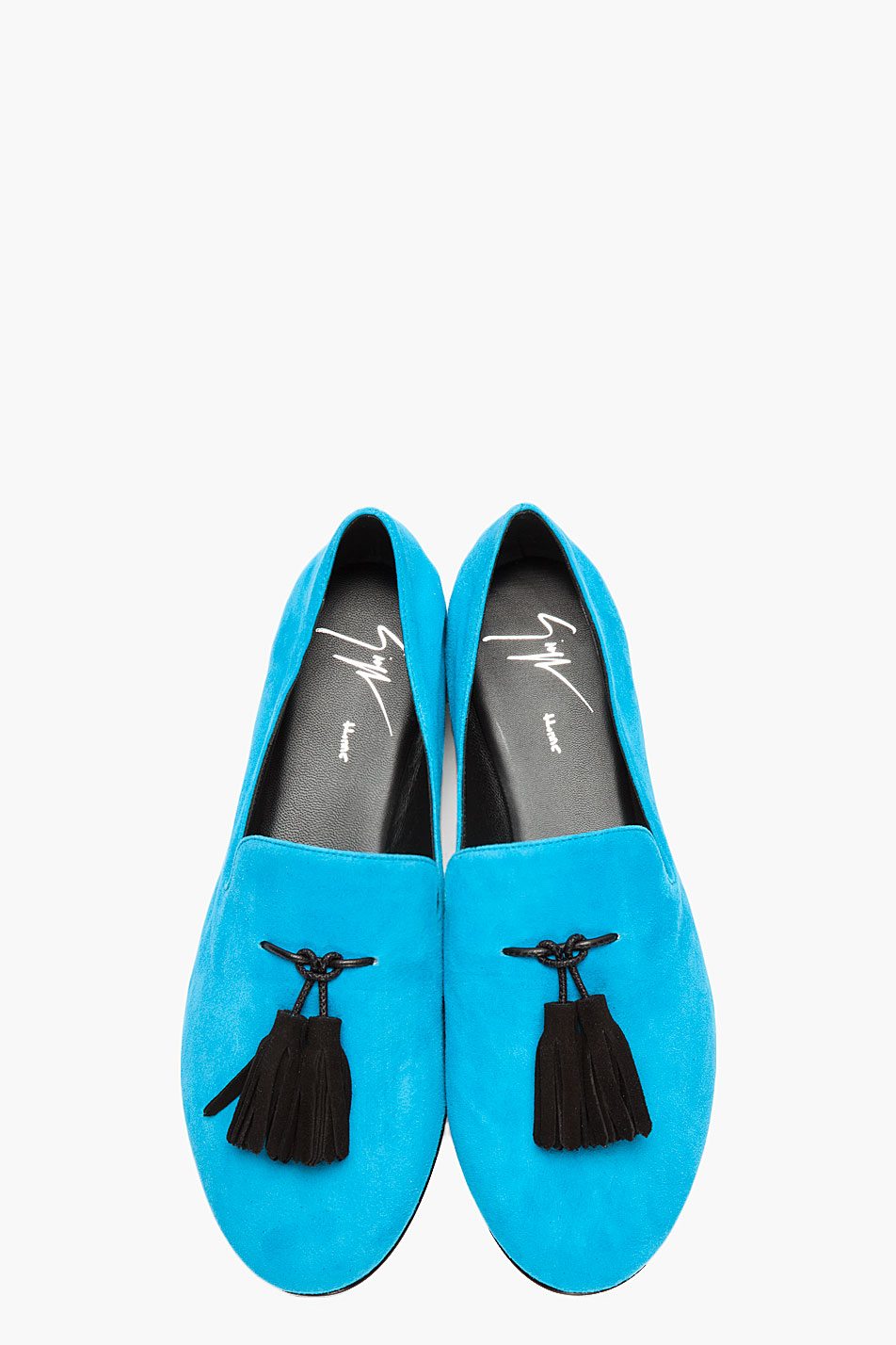 Lyst Giuseppe Zanotti Bright Blue Tassled Suede Kevin