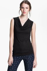 Halogen Draped Stretch Modal Top - Lyst