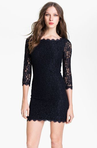 Diane Von Furstenberg Zarita Lace Shift Dress - Lyst