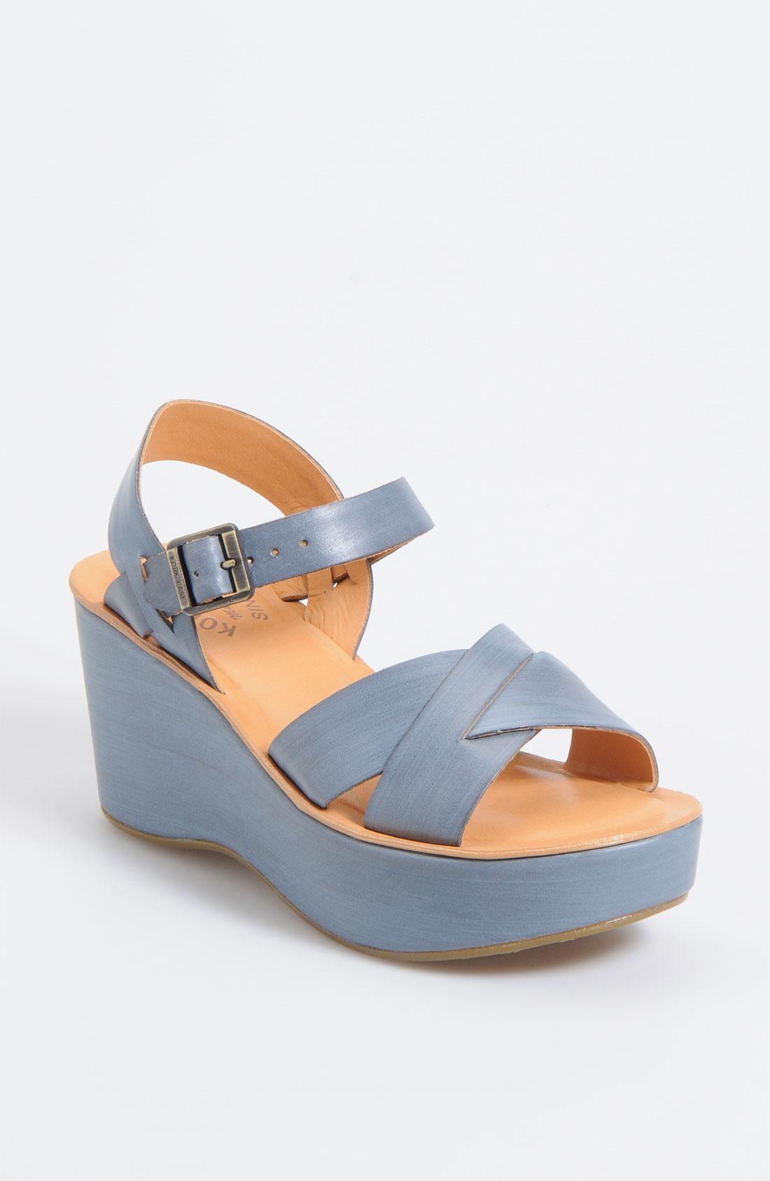 Kork Ease Korkease Ava Wedge Sandal In Blue Orion Lyst