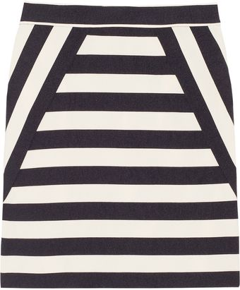 Marc By Marc Jacobs Scooter Striped Satin Twill Skirt - Lyst