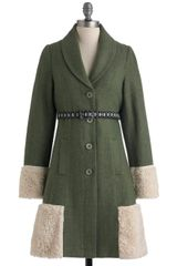 ModCloth Adventures in Anchorage Coat - Lyst