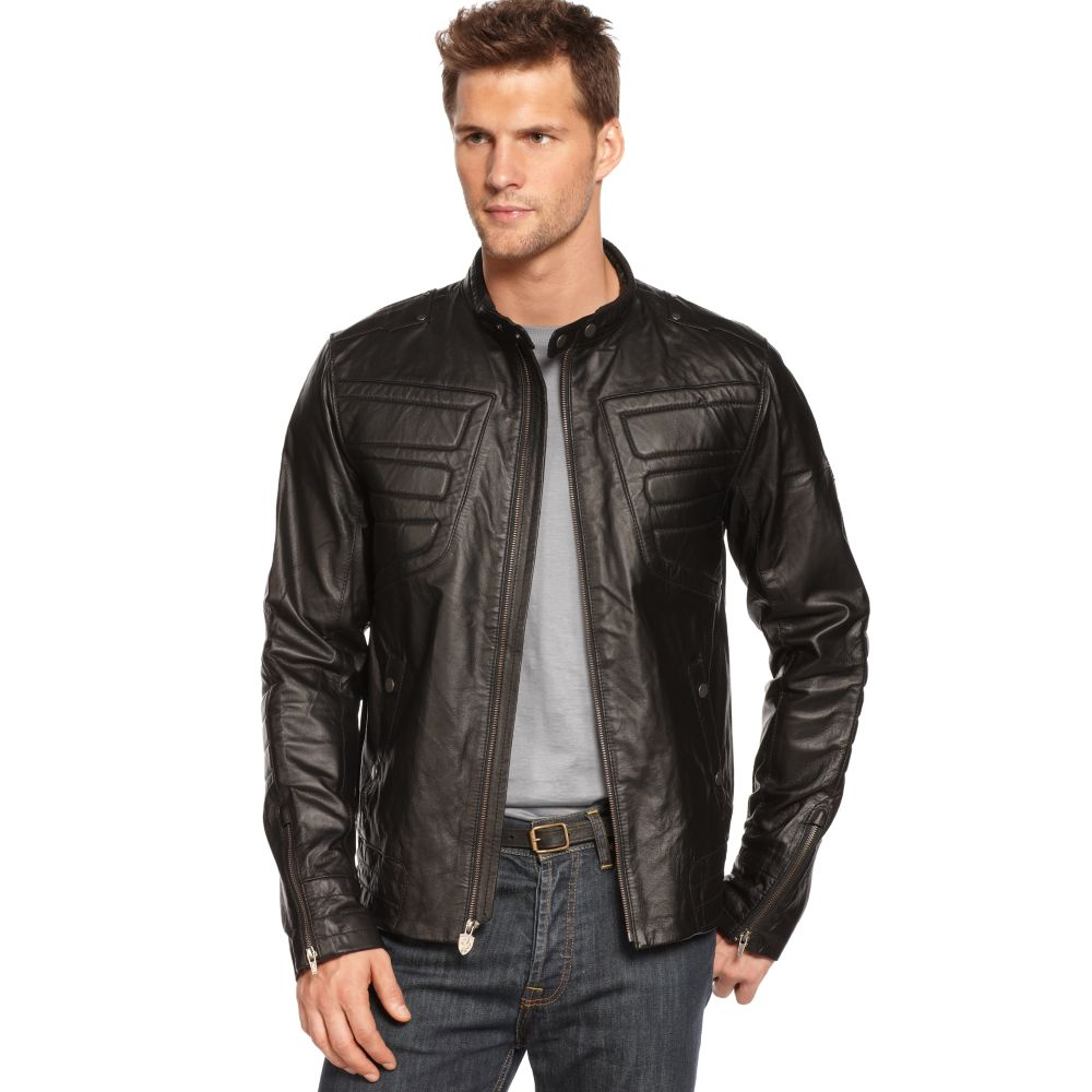 Puma Ferrari Leather Jacket in Brown for Men
