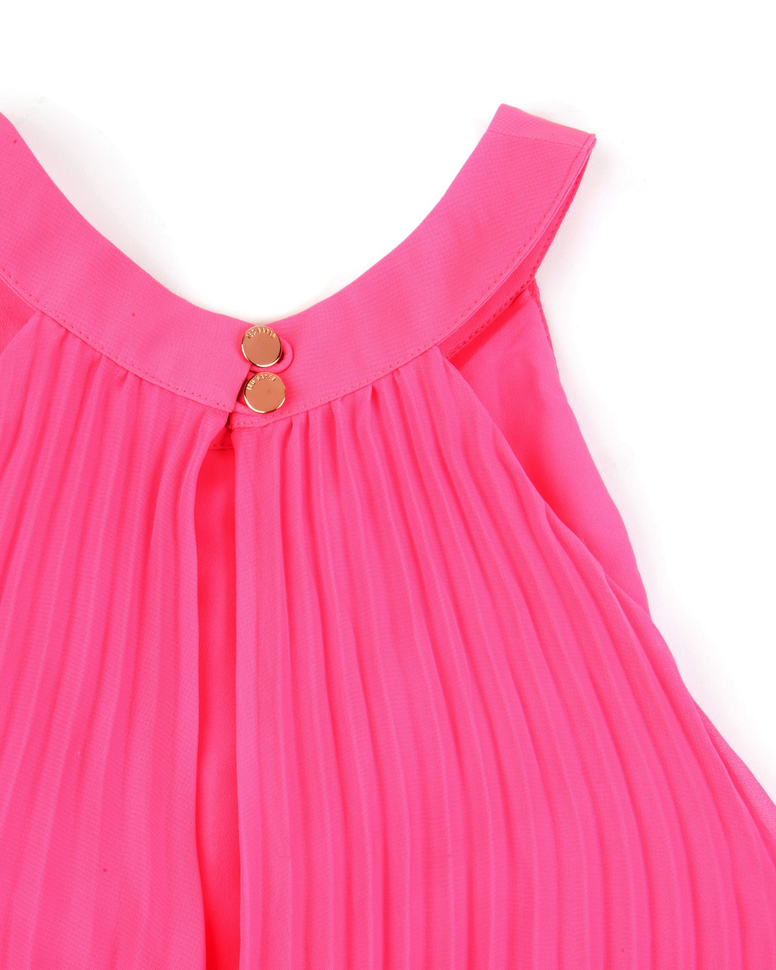 Ted Baker Jelty Pleated Dress In Pink Lyst