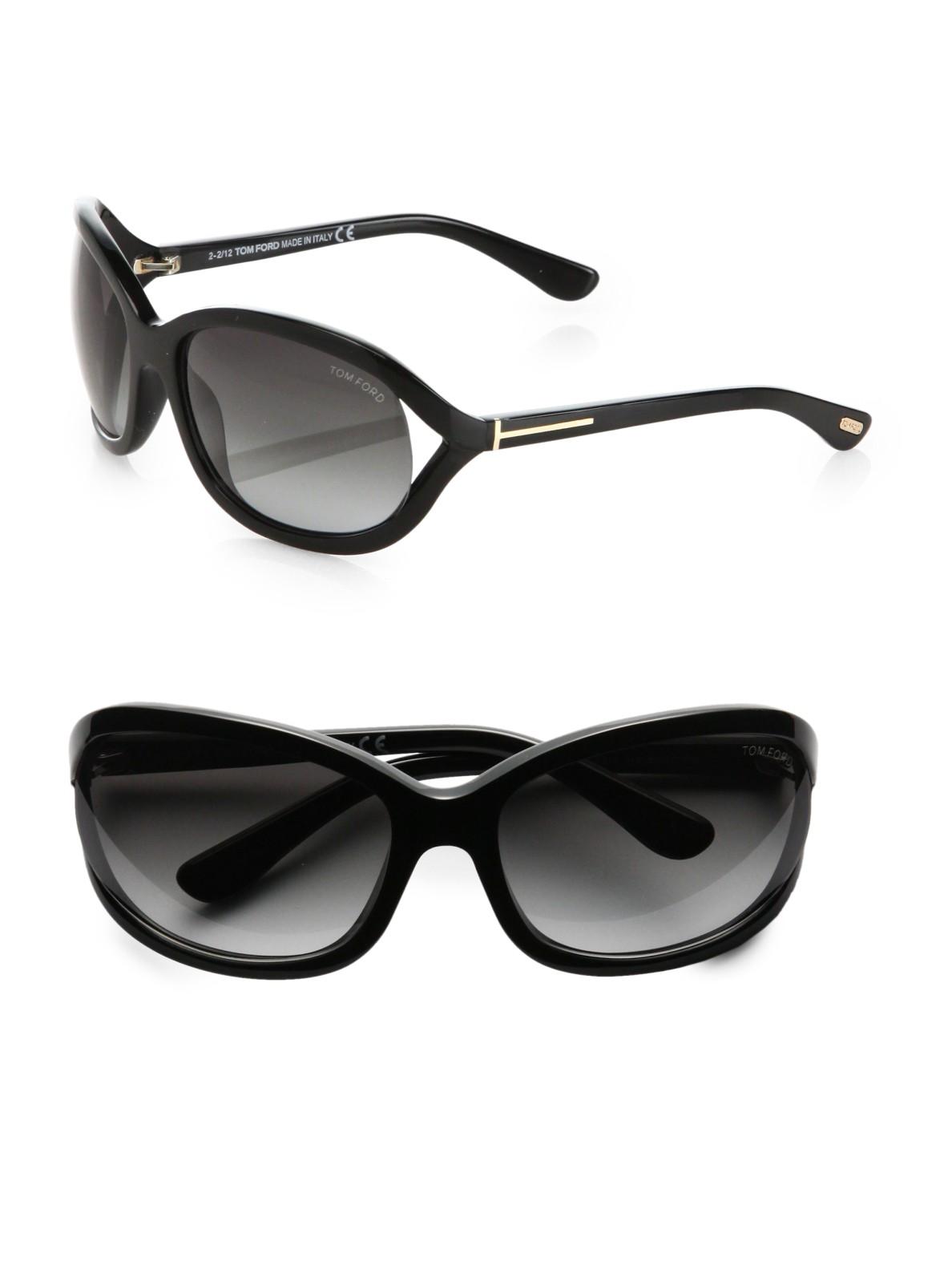 tom ford jennifer acetate sunglasses in black lyst. Black Bedroom Furniture Sets. Home Design Ideas