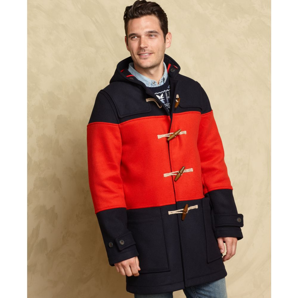 Tommy hilfiger European Collection Washington Duffle Coat in Black ...