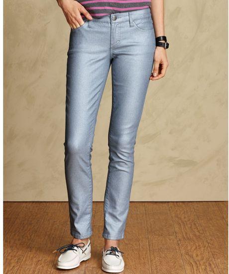 tommy hilfiger jeans modern skinny coated silver wash in. Black Bedroom Furniture Sets. Home Design Ideas