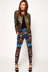 ASOS Collection Jewel Print Trousers - Lyst