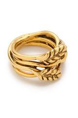 Aurelie Bidermann Wheat Ring - Lyst