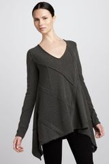 Donna Karan New York Longsleeve Patchwork Top - Lyst