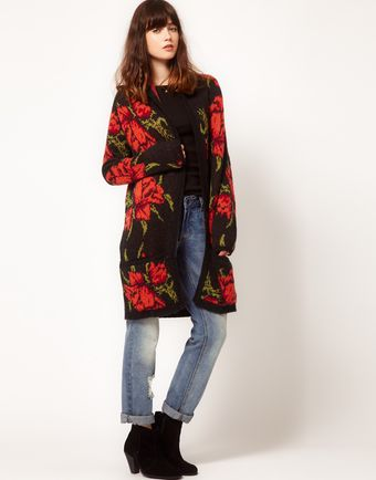 Free People Flower Power Cardigan in Intarsia Knit - Lyst