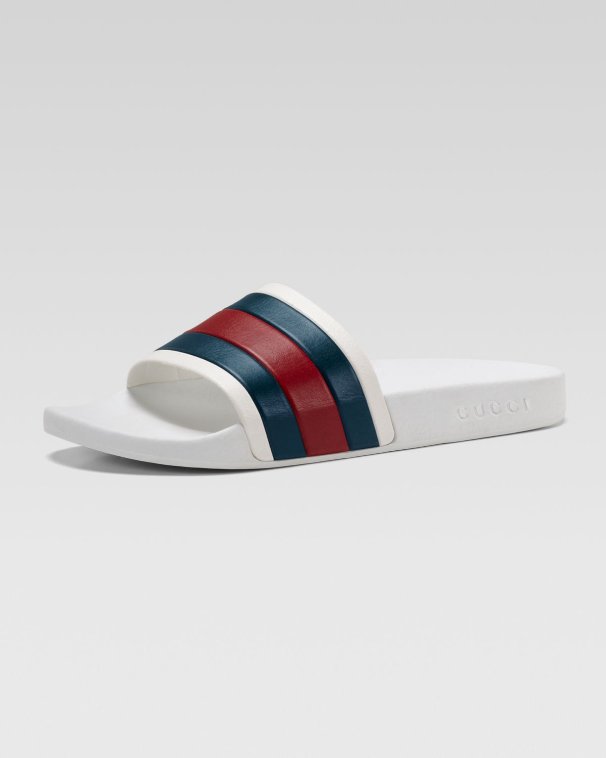 57ded5afbbc Lyst - Gucci White Rubber Slide Sandal in White for Men