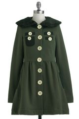 Modcloth A Thrill in The Air Coat in Green - Lyst