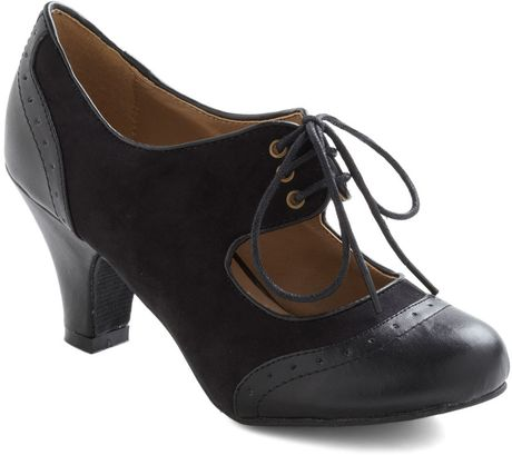 Modcloth The Best Of Times Heel in Noir in Black (noir) - Lyst