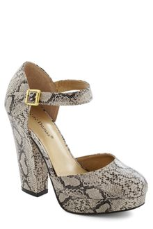 ModCloth Trip To The Tropics Heel in Snakeskin - Lyst