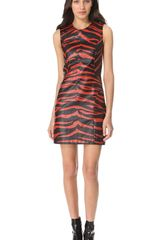 3.1 Phillip Lim Tiger Leather Dress - Lyst
