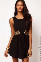 Asos Petite Exclusive Dress with Cut Out Sides and Embellishment - Lyst