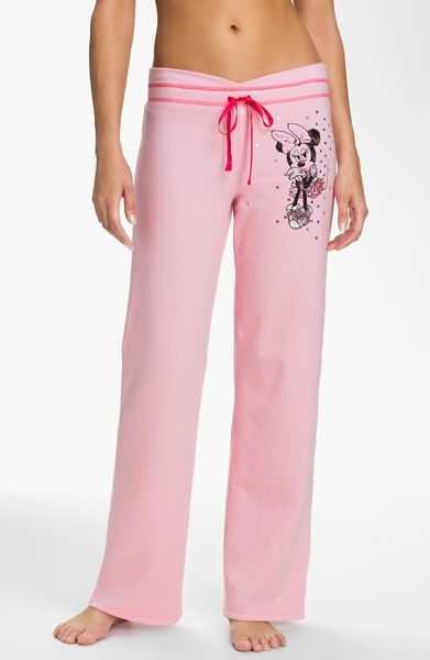 Betsey Johnson Minnie Fleece Pants In Pink Cotton Candy